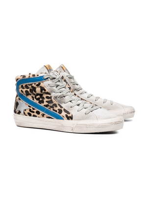 Golden Goose Deluxe Brand Leopard High Top Shoes