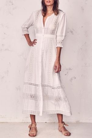 Loveshackfancy Desert Victorian Maxi Dress Dresses