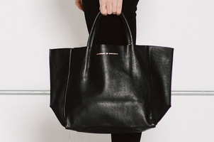 Ampersand As Apostrophe Half Tote Black Soft Bags