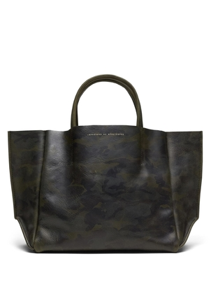 Ampersand As Apostrophe Sideways Tote Olive Camo Bags