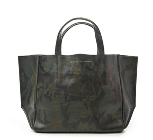 Ampersand As Apostrophe Half Tote Olive Camo Bags