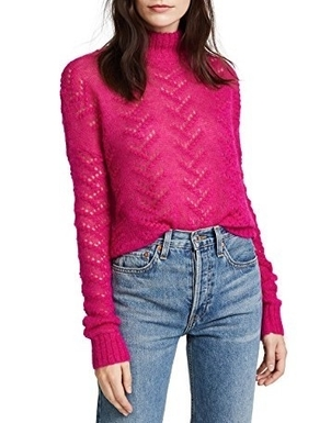 Tanya Taylor Everette Sweater - Pink Tops