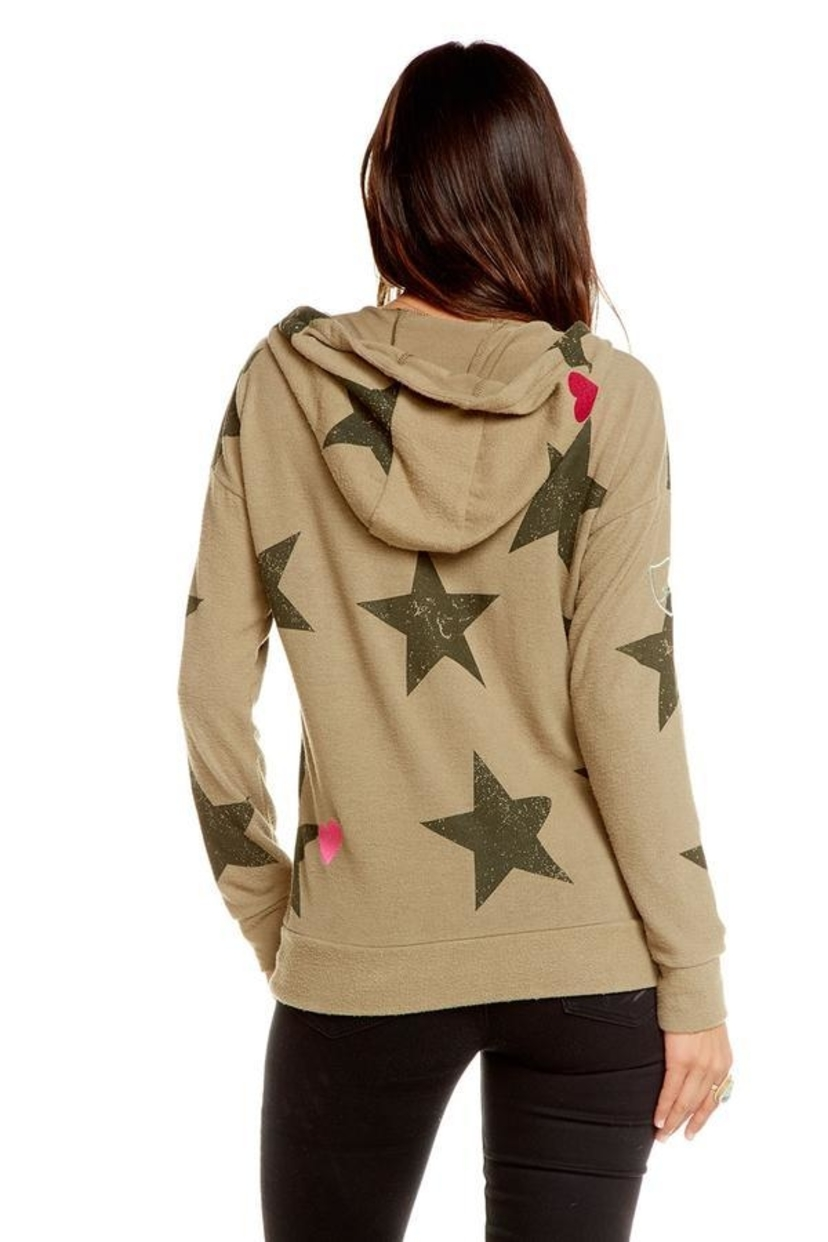 Chaser Star Patch Hoodie Tops