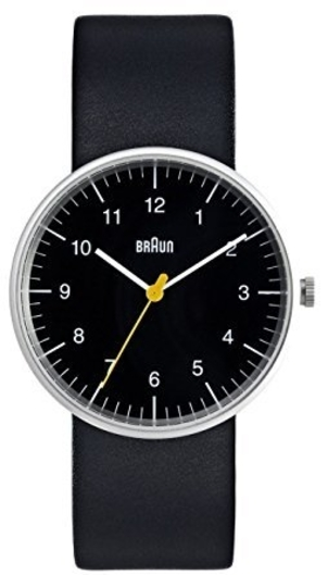 Braun SIMPLE ANALOG WATCH BLACK Men's