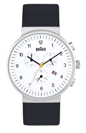 Braun CHRONOGRAPH ANALOGUE WATCH WHITE Men's