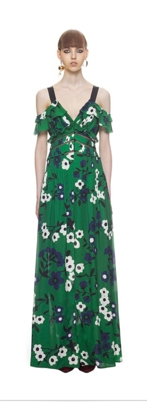 Self-Portrait Floral Maxi Dress Dresses