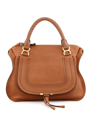 Chloé Marcie Double Carry Shoulder Bag in Caramel Bags