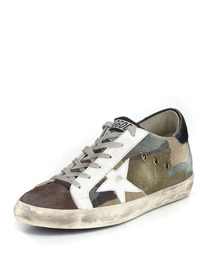 Golden Goose Deluxe Brand Camouflage Superstar Sneakers Shoes