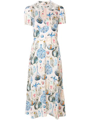 Temperley London Short Sleeve Lace Collar Dress Dresses