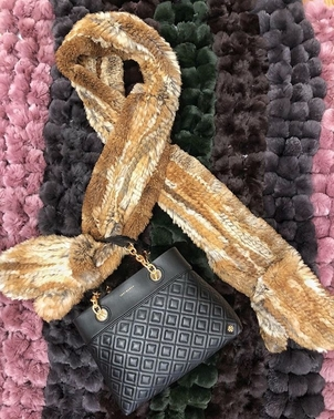 Tory Burch Fur Scarves & Quilted Bag Accessories Bags