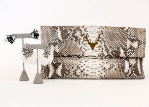 Mignonne Gavigan Taxidermy Feathers & Python Bags Jewelry