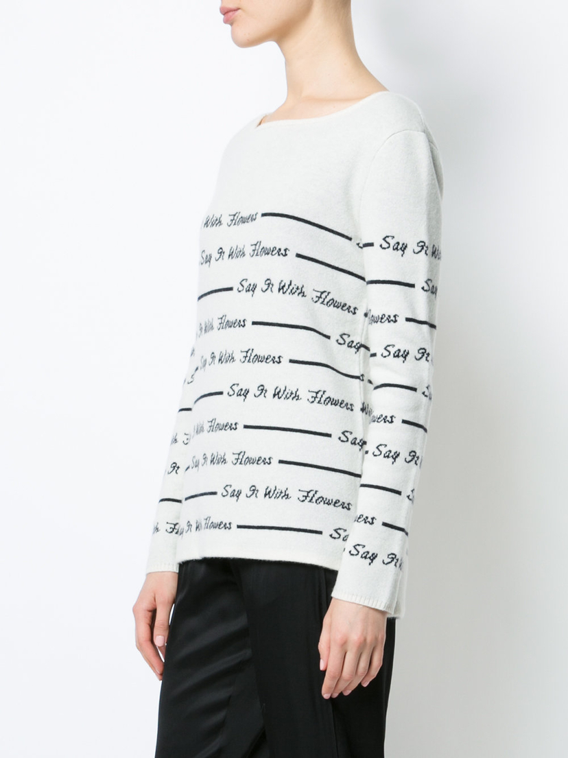 Rosie Assoulin Say It With Flowers Sweater Tops