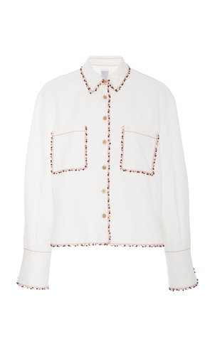 Rosie Assoulin Wooden Trim Blouse Tops