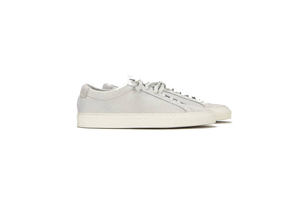 Common Projects Achilles Low Sneaker in White Fur (Originally $564) Sale Shoes