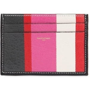 Balenciaga Striped Pink, Red & Black Credit Card Holder Bags