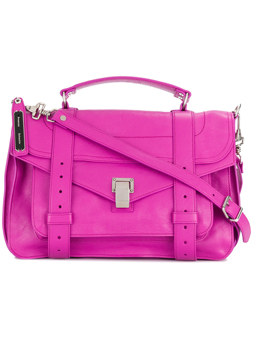 Proenza Schouler Lux Leather Medium PS1 in Berry Bags