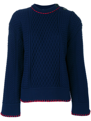 Sonia Rykiel Long Sleeve Embroidered Sweater (Originally $719) Sale Tops