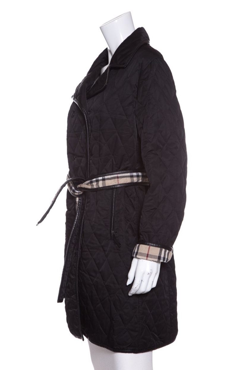 Burberry London Black Quilted Trench Coat SZ M | House Account : burberry quilted trench - Adamdwight.com