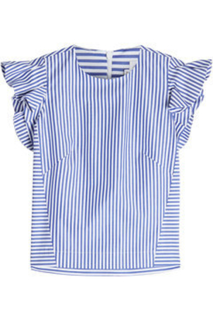 Stella Jean Striped Cotton Sleeveless Top Tops