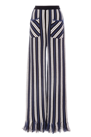 Rosie Assoulin Knit Pants With Fringe Pants