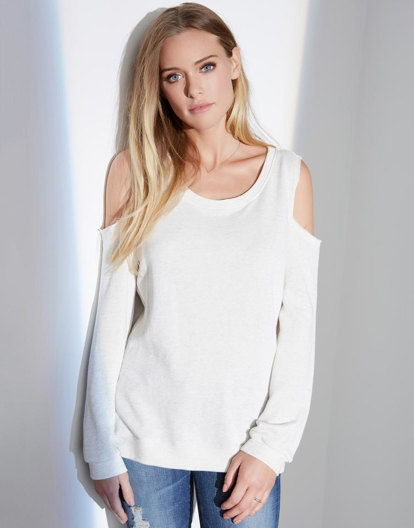 Fifteen Twenty Cold Shoulder Sweatshirt Tops