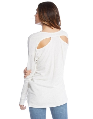 Fifteen Twenty Cutout Back Sweatshirt Tops