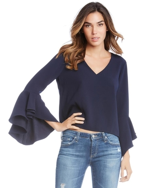 Fifteen Twenty Tulip Bell Sleeve Top Tops