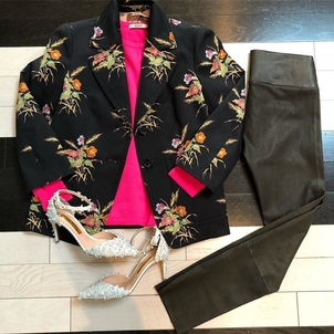 Floral Blazer and Accessories Outerwear Pants Shoes Tops