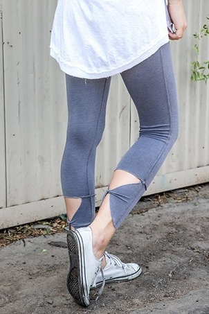 R&R Surplus Twist Back High Waist Leggings (orig $134)