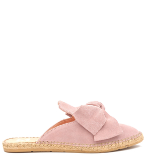 Manebi Pink Suede Bow Sandals Shoes