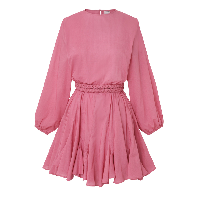 Rhode Resort Ella Belted Dress in Dusty Rose Tops
