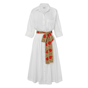 Rhode Resort Laura White Button Down Dress Dresses