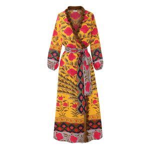 Rhode Resort Lena Robe Pink Flower Printed Dress Dresses