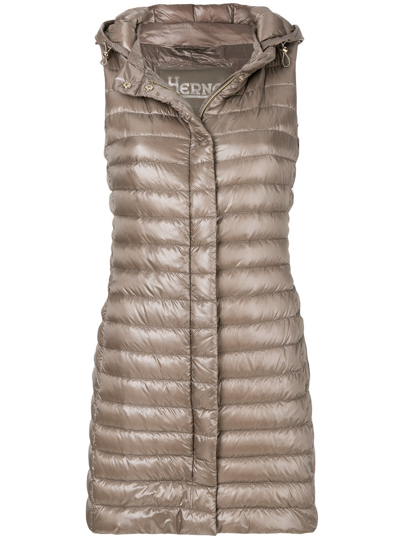 Herno Herno long hoodie vest Outerwear