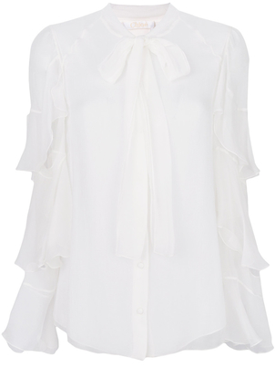 Chloé Ruffle Sleeve Blouse (Originally $1,850) Sale Tops
