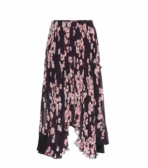 Isabel Marant Floral Pleated Asymmetrical Skirt (Originally $1,250) Sale Skirts