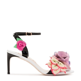 Floral Leather Heel