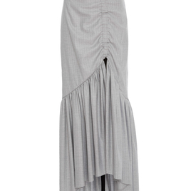 Hellessy Heather Grey Pinstripe Skirt