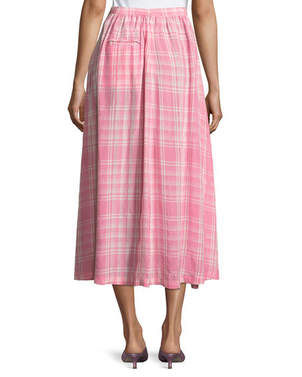 Rosie Assoulin Gathered Plaid Skirt Skirts