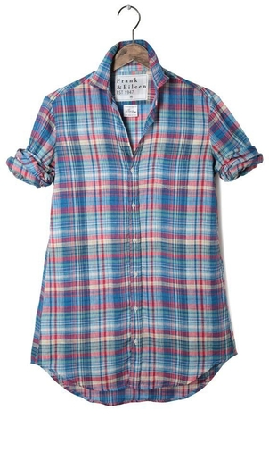 Frank & Eileen Mary l/s button down plaid Dresses Tops