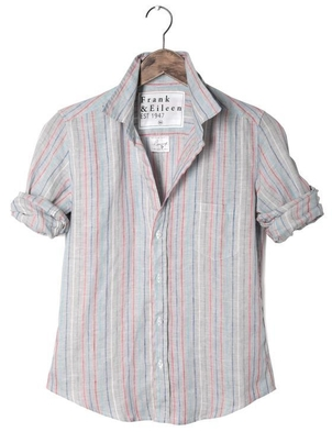 Frank & Eileen Barry Multi Stripe Linen Tops