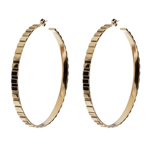 Eklexic Rectangle Step Pattern Hoops Jewelry