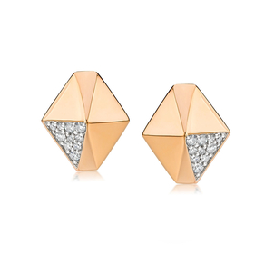 Walters Faith Sydney 18K Diamond Origami Stud Earring Jewelry