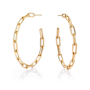 "Walters Faith Saxon 1.5"" Chain Link Hoop Earring Jewelry"