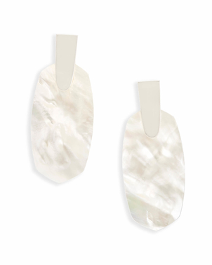 Kendra Scott Aragon Statement Earrings In Ivory Pearl Jewerly