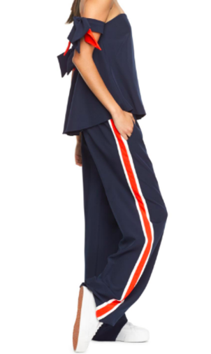 Milly Navy Track Pant Pants