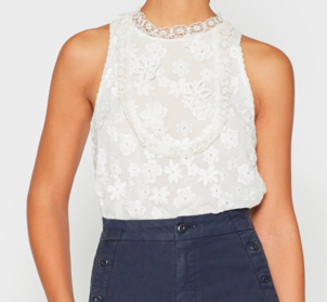 Joie Rayce Lace Top Tops