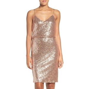 Jenny Yoo Emery Sequin Dress - Rose Gold Dresses