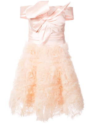 Marchesa Strapless Dress - Blush Dresses