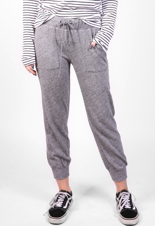 the lady  & the sailor Cropped Sweatpant – Heather Knit